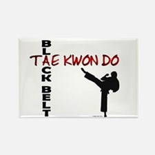 Tae Kwon Do Black Belt 2 Rectangle Magnet