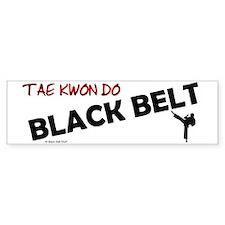 Tae Kwon Do Black Belt 2 Bumper Bumper Sticker