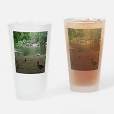 Duck pond/deerpanther Drinking Glass