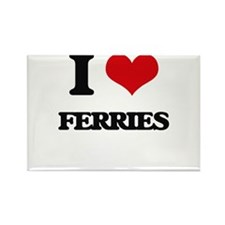 I Love Ferries Magnets