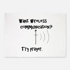 Wireless Communication Prayer 5'x7'Area Rug
