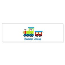 Flamingo Crossing Train Bumper Bumper Bumper Sticker