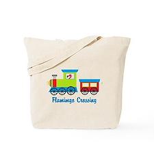 Flamingo Crossing Train Tote Bag