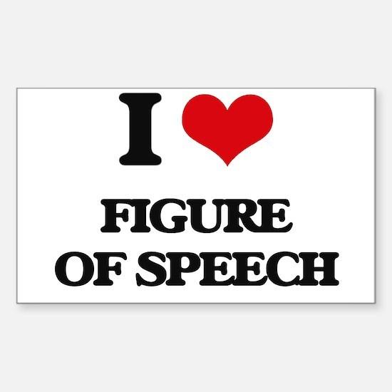 I Love Figure Of Speech Decal