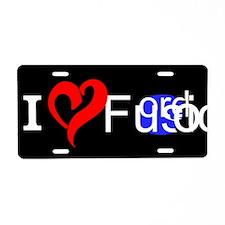 I Love Fusion Aluminum License Plate