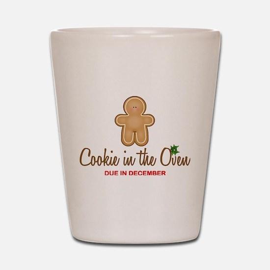 Cookie Due December Shot Glass