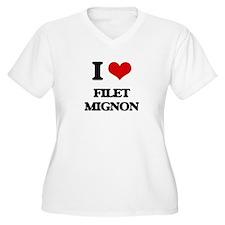 I Love Filet Mignon Plus Size T-Shirt