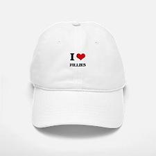 I Love Fillies Baseball Baseball Cap