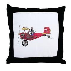 Tailwheels Throw Pillow