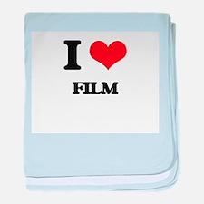I Love Film baby blanket