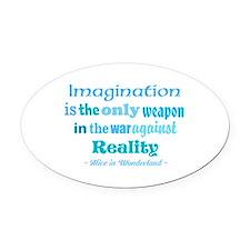 Imagination Oval Car Magnet
