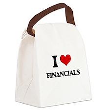 I Love Financials Canvas Lunch Bag