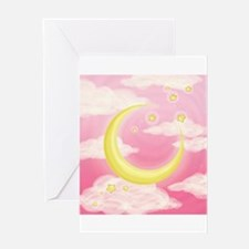Moon Pink Greeting Cards