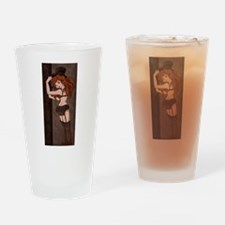 Chocolate and Lace Drinking Glass