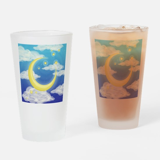 Moon Blue Drinking Glass