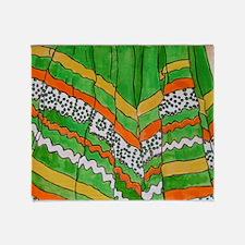 Folklorico Skirt Throw Blanket