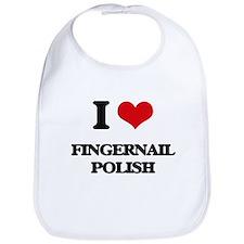 I Love Fingernail Polish Bib