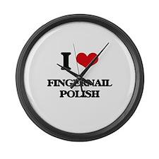 I Love Fingernail Polish Large Wall Clock