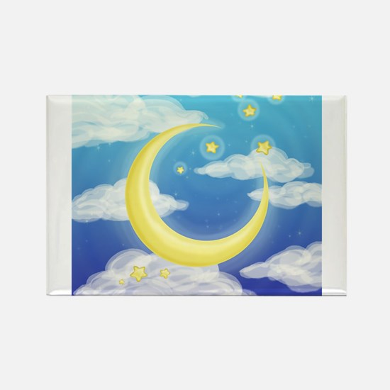 Moon Blue Magnets