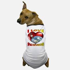 I Love Space Exploration Dog T-Shirt