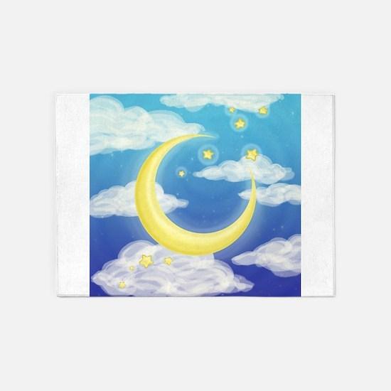 Moon Blue 5'x7'Area Rug