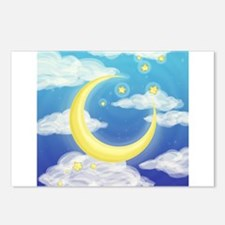 Moon Blue Postcards (Package of 8)