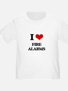 I Love Fire Alarms T-Shirt