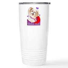 Cute Yorkie valentines Travel Mug