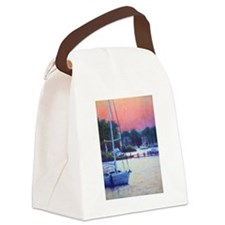 Spa Creek Sunset Canvas Lunch Bag