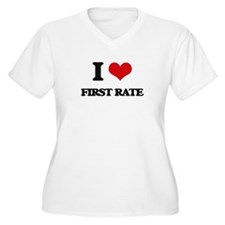I Love First Rate Plus Size T-Shirt