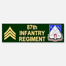 87th Infantry Regiment <BR>SGT Bumper Bumper Bumper Sticker