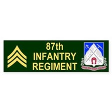 87th Infantry Regiment <BR>SGT Bumper Bumper Sticker