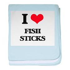 I Love Fish Sticks baby blanket