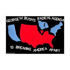 11x17 America Broken Apart Poster