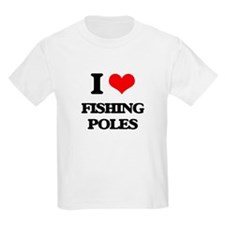 I Love Fishing Poles T-Shirt