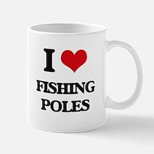 I Love Fishing Poles Mugs