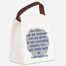 Attitude: Humor Canvas Lunch Bag
