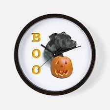 Staffy Boo Wall Clock