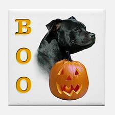 Staffy Boo Tile Coaster