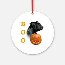 Staffy Boo Ornament (Round)