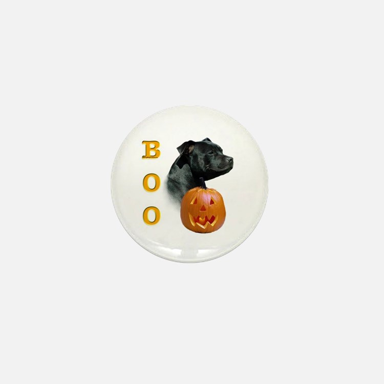 Staffy Boo Mini Button