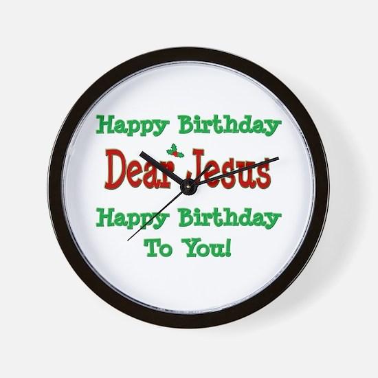 Happy Birthday Jesus Wall Clock