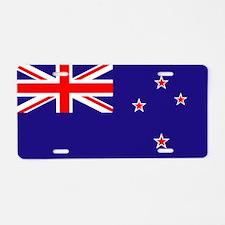 NZ Flag Aluminum License Plate