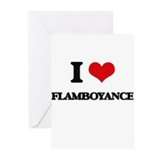 I Love Flamboyance Greeting Cards