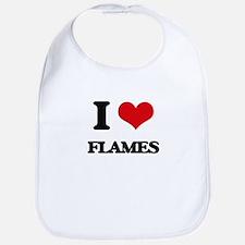 I Love Flames Bib