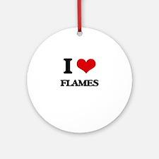 I Love Flames Ornament (Round)
