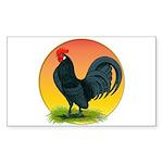 Sunrise Dutch Bantam Rectangle Sticker