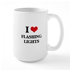 I Love Flashing Lights Mugs