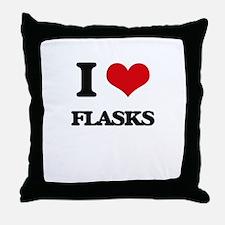 I Love Flasks Throw Pillow