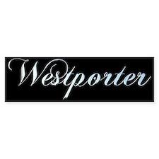westporterplate.png Bumper Bumper Sticker